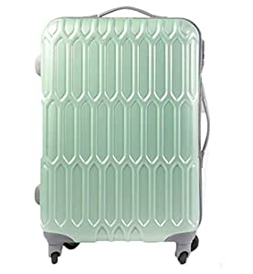"Di Grazia Polycarbonate 60cm(24"") Hardside Trolley Luggage Rolling Suitcase With Wheels, Free Cover for the Bag - Aqua Green"
