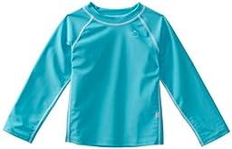 i play. Baby Long Sleeve Rashguard Shirt, Aqua, 12 Months