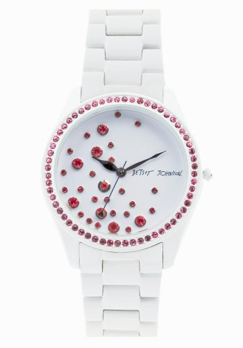 Betsey Johnson Women's BJ4156 Sweetie Pie Collection White Dial Bracelet Watch