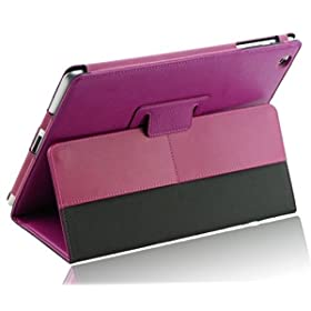 Splash Safari Slim-Profile Leather Case Cover for The New iPad - Side