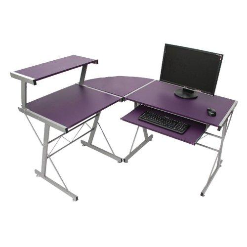 Jugend-Schreibtisch Bürotisch Nevada, ca.100x115x140cm ~ lila günstig bestellen