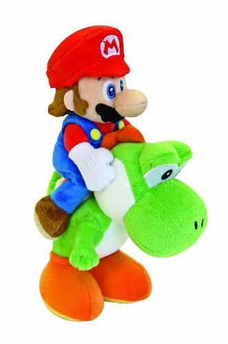 Nintendo - Peluche Mario e Yoshi, da Super Mario Bros, 22 cm