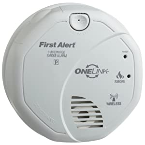 carbon monoxide alarm first alert sa521cn onelink hardwire wireless smoke alarm with battery backup. Black Bedroom Furniture Sets. Home Design Ideas