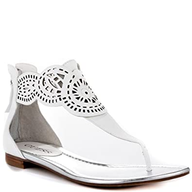 guess shoes rolisa white leather guess