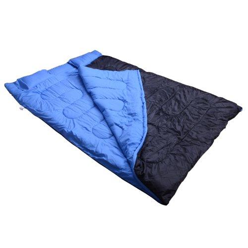 Comparamus sac de couchage double avec 2 oreillers tres confortable contre basse temperature - Decathlon matelas gonflable avec couette ...