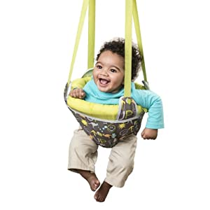 Evenflo exersaucer door jumper up baby for Door bouncer age