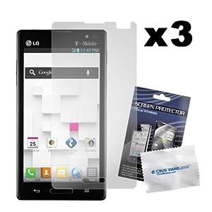 PrimaCase - Pack de 3 - Film de Protection d'écran / écran protecteur pour LG P760 Optimus L9