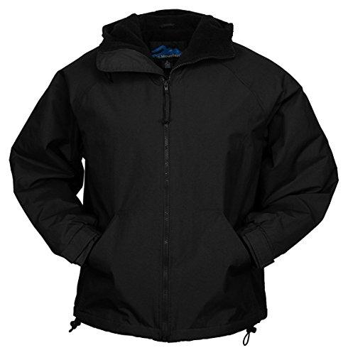 Tri-Mountain Mens Nylon Hooded Jacket With Fleece Lining. 8480Tm - Black / Black_3Xlt front-456118