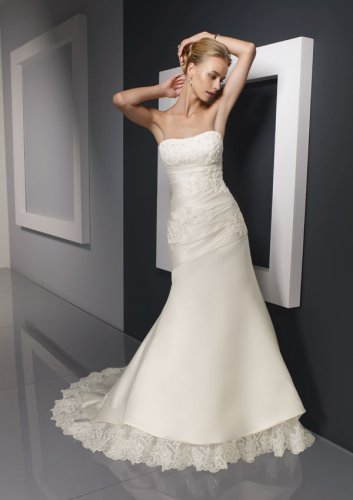 Duchess Satin with Lace Wedding Gown