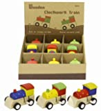 Wooden Clockwork Train *Assorted Colours with Spots* Traditional TOY Fun