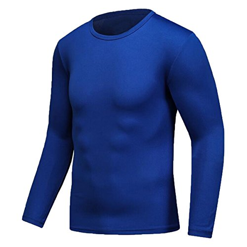 Century Star Mens Sport Moisture Wicking Tee Athletic Quick-drying GYM T-shirts Royal Blue M