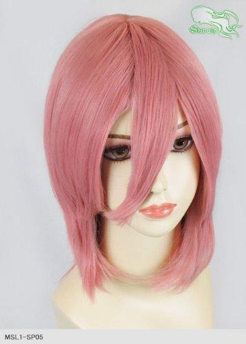 スキップウィッグ 魅せる シャープ 小顔に特化したコスプレアレンジウィッグ シャイニーミディ サーモンピンク