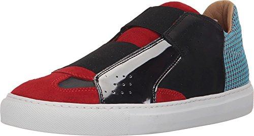 mm6-maison-margiela-womens-elastic-center-slip-on-light-blue-red-gunmetal-sneaker-37-us-womens-7-m