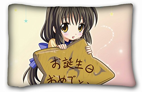 Queen Size Soft And Silky Decorative Pillowcase - Anime Clannad front-208298