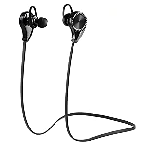 LSoug Bluetooth Headphones, Bluetooth Earbuds V4.1 Wireless Sports Headphones Sweatproof Running Gym Stereo Headsets Built-in Mic/APT-X for iPhone 6s 6s plus Galaxy S6 S5 and Android Phone