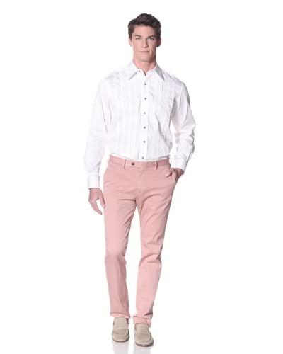 Robert Graham Men's Cactus Bloom Sport Shirt  [White]