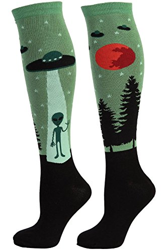 UFO Aliens Women's Knee High Socks