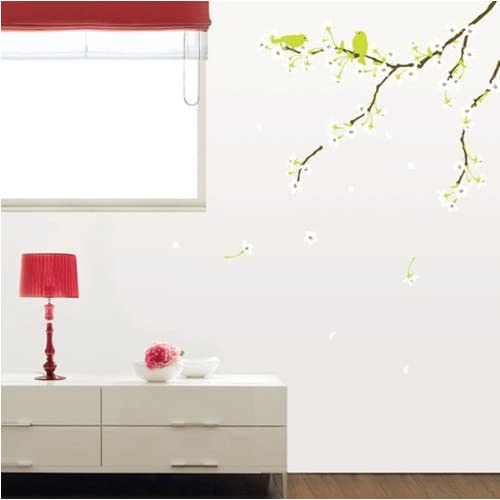 (20x28) Spring Flowers and Birds Wall Decal