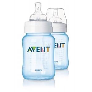 Philips AVENT SCF685/27 Classic Feeding Bottle (Blue, 260ml, 2-Pack)