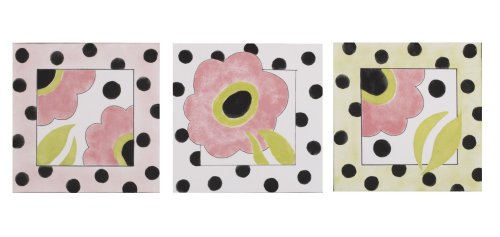 Cotton Tale Designs Poppy Wall Art, 3-Piece