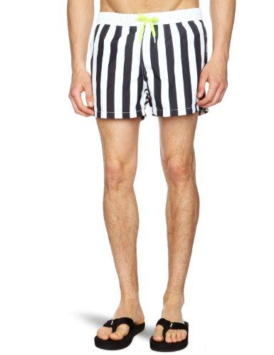 Bjorn Borg Block Stripe Shorts Men's Swim Shorts Black X Large