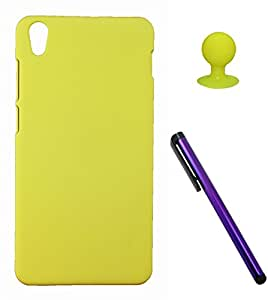 FCS Rubberised Hard Back Case For Lenovo S850 With Mobile Stand And Capacitive Touch Screen Stylus