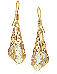 Vk Jewels White Diamond Gold Brass Alloy Cz American Diamond Earring For Women Vkerz1539G