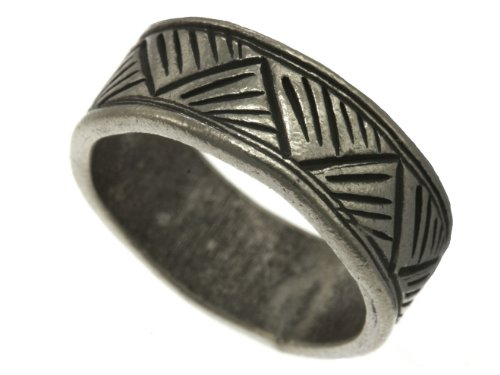 Karen Hill Tribe Sterling Silver Tribal Mountain Printed Ring (8)