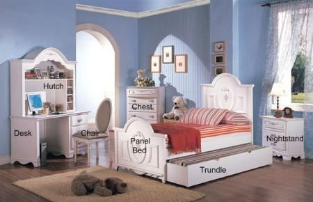 Cheap Sariah 5-Piece Kids Panel Bedroom Set – Coaster 400101 (B005LWQM36)