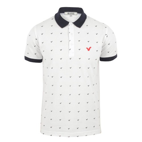 Voi Mens Mini Logo Polo Shirt White Medium