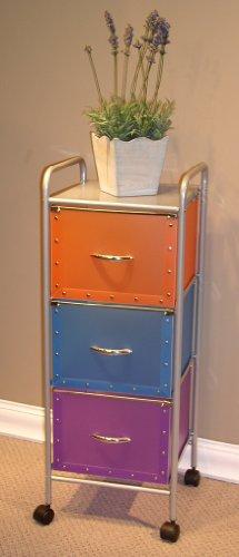 4D Concepts Multi - Color 3 - Drawer Utility Chest front-921965