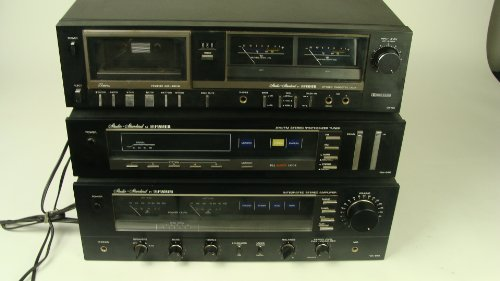 Vintage Fisher CA-880 Integrated Amplifier Amp FM-660 Solid State Stereo Tuner+ Fisher cassette player recorder excellent from the 1980s!