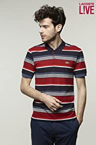 L!VE Short Sleeve Multicolor Stripe Pique Polo