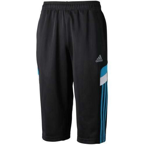 adidas(アディダス) スポーツ ウェア KIDS adidasbrave ジャージ 3/4パンツ ジュニア ブラック/ソーラーブルー S14 S06120