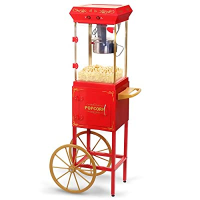 Elite EPM-299 Kettle Popcorn Maker Trolley Machine, 2.5 oz, Red by Elite