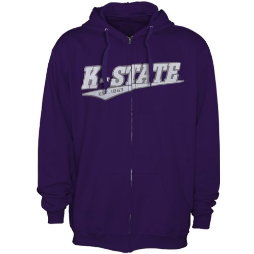 NCAA Kansas State Wildcats Arch &amp; Logo Full Zip Hoodie - Purple (Small) Amazon.com