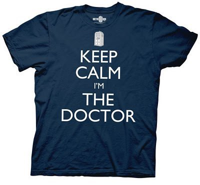 Dr. Doctor Who Keep Calm I'm The Doctor Navy Adult T-shirt Tee (Adult Large)