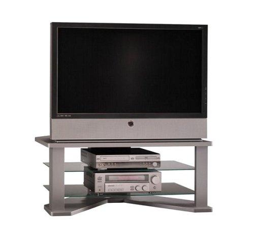 Cheap Bush Silver Suede / Metallic Silver Finish 60″ Plasma TV Stand Video Base (VS47246)