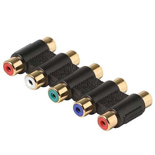 Cmple - RGB RCA Coupler Splitter Video/Audio 5-RCA Component