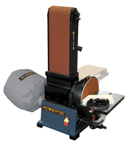 POWERTEC BD6900 Belt Disc Sander with Built-In Dust Collection, 6-Inch by 9-Inch