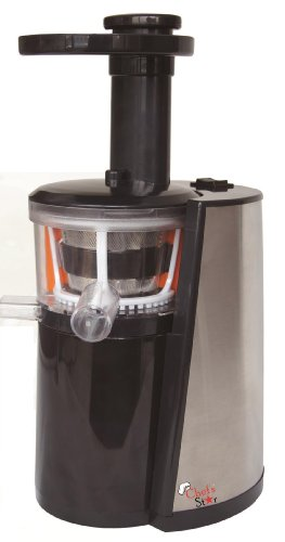 Slowstar Masticating Juicer : Chef s Star Slow Masticating Juicer Black & Stainless Steel $ Top Product - lusion shopi