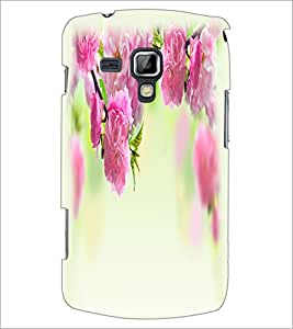 PrintDhaba Flowers D-2208 Back Case Cover for SAMSUNG GALAXY S DUOS S7562 (Multi-Coloured)
