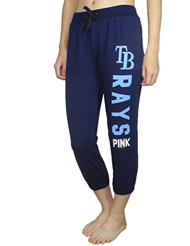 Pink Victoria's Secret Womens TAMPA BAY RAYS Lounge / Yoga Crop Pants S Dark Blue