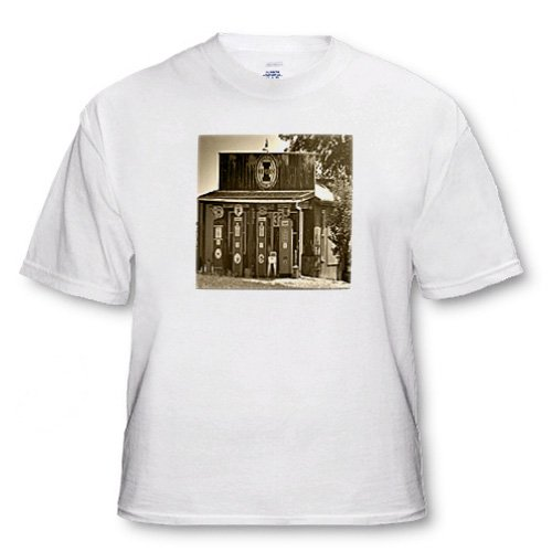 33 cents, Old Gas Station - Adult T-Shirt Large