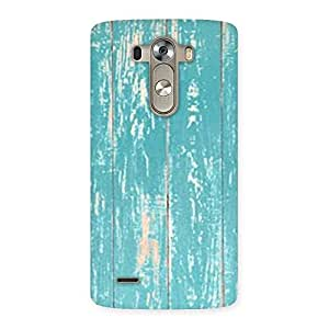 CyanBlue Bar Texture Back Case Cover for LG G3