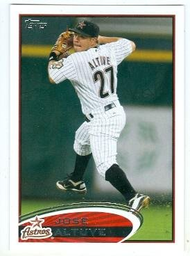 Jose Altuve baseball card (Houston Astros All Star) 2012 Topps #187 Rookie Season