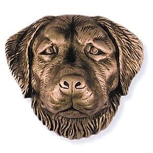 Golden Retriever Door Knocker Bronze