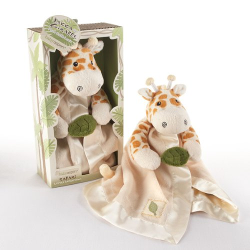 Jakka the Giraffe Little Expeditions Plush Rattle Lovie with Crinkle L