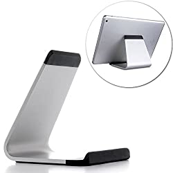 iPad Stand, SPARIN® Portable Aluminum Stand for iPad Pro, iPad Air 2 / 1, iPad Mini 4 / 3 / 2 / 1, and Other Tablets, Smart-phones or E-readers, Silver