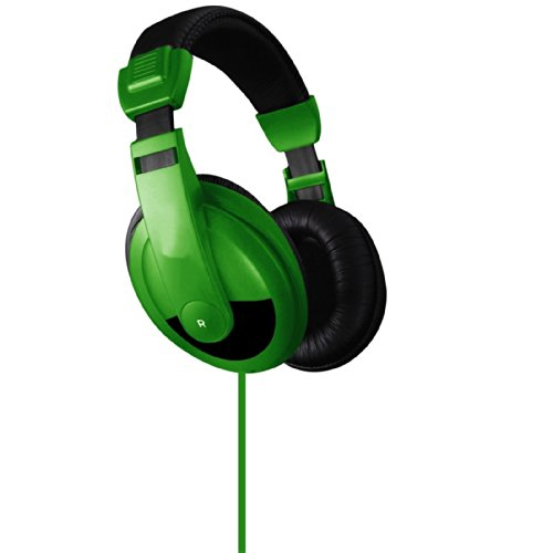 Vibe Sound Vs-750-Dj Noise Reduction Stereo Headphones (Green)